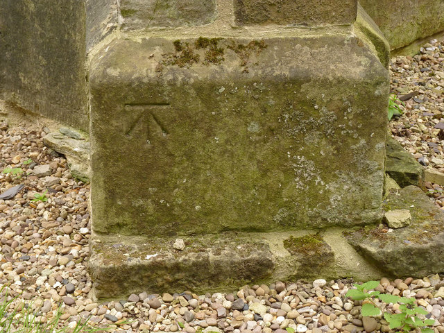 Bench mark, St John the Baptist Church, Treswell