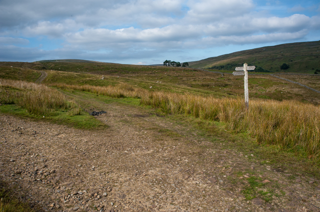 Junction of The Pennine Way and The Hearne Coal Road