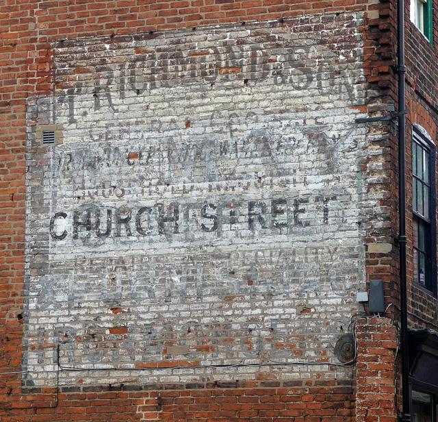 Ghost sign, Boar Lane, Newark-on-Trent