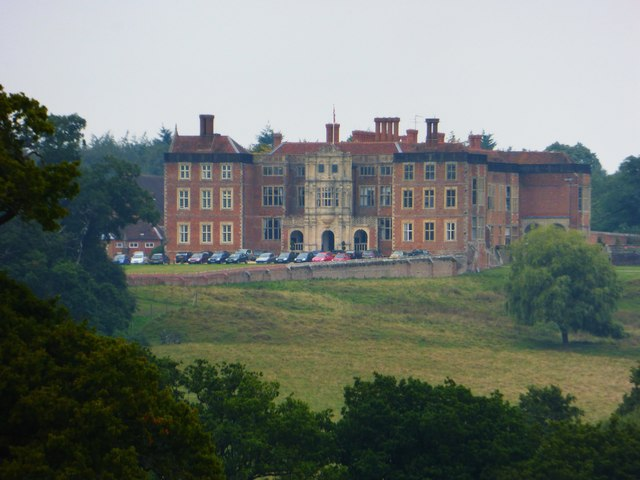 Bramshill House seen from footpath
