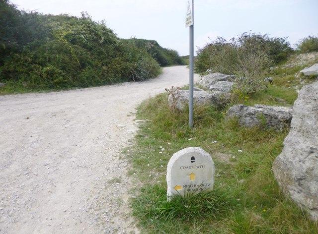Grove, footpath marker