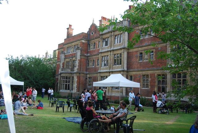 Garden party, Sidney Sussex College