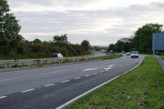 The A64 near Bilbrough Top