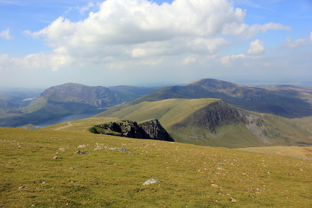 The view west from the Llanberis Path