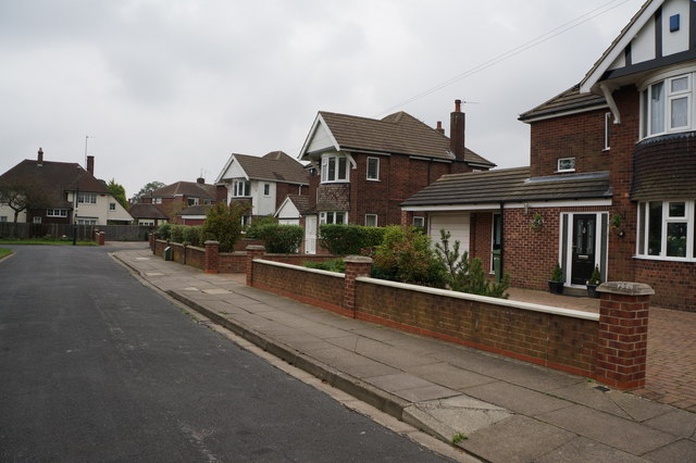 Houses on Heron Close off Weelsby Road