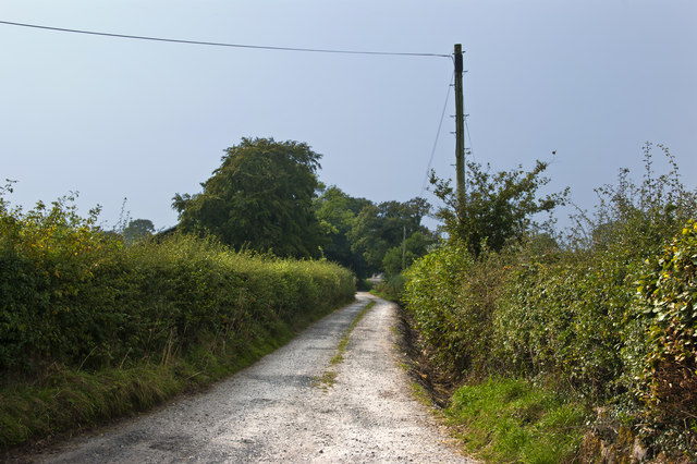 The track to Winn House