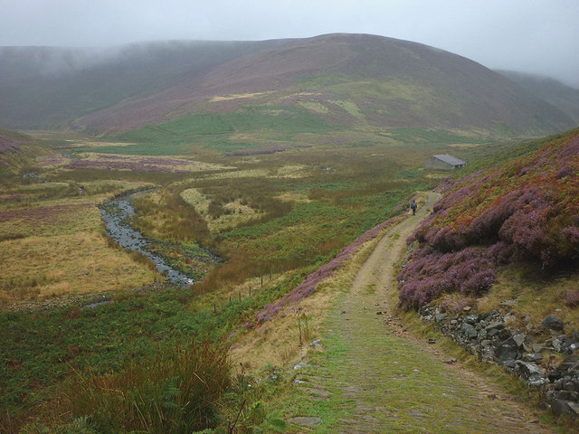 The track approaching Langden Castle