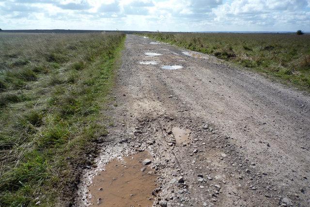Old Turnpike road across Westdown/Larkhill ranges