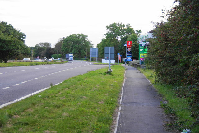 The A64 near the eastbound services at Bilbrough