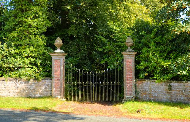 Gates to Acton Scott Hall