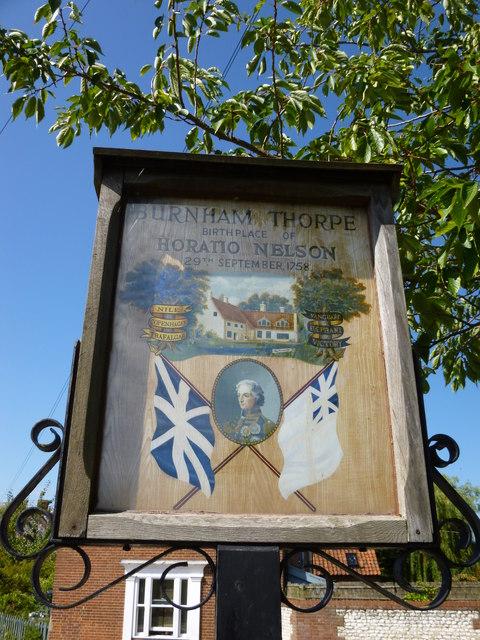 Village sign, Burnham Thorpe, Norfolk