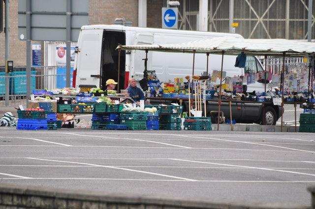Bridgend : Car Park & Market Stall