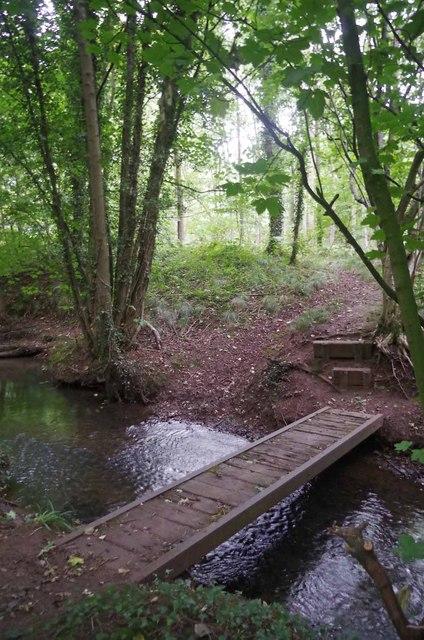 Footbridge over Checkley Brook