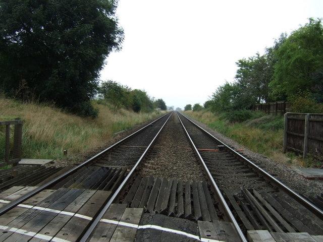 Railway towards Market Rasen