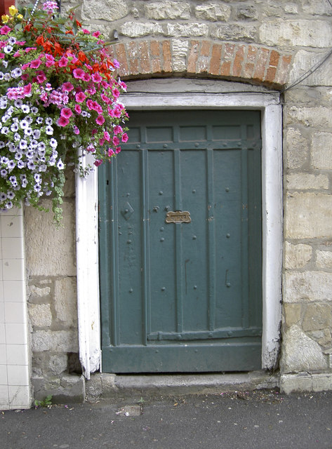 A floral door