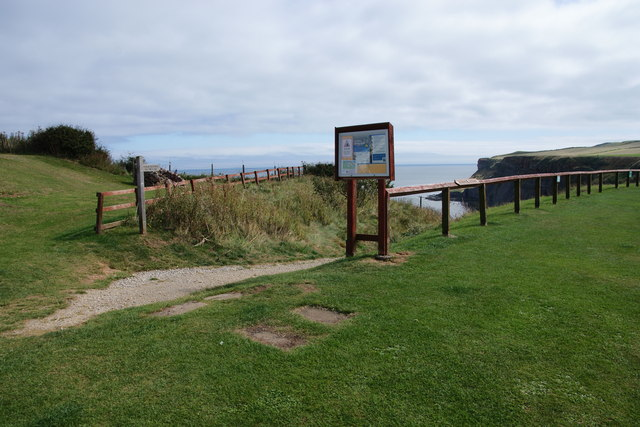 Path down to the beach at Saltwick Bay