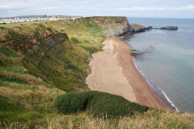 The beach at Saltwick Bay