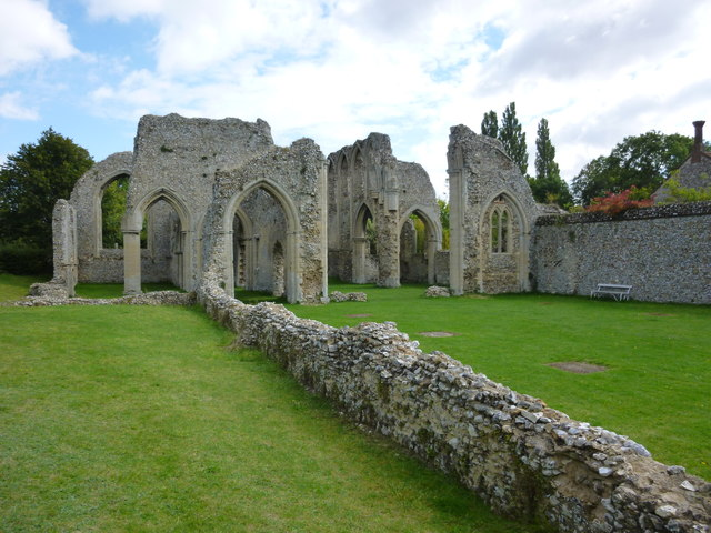 The ruins of Creake Abbey, Norfolk