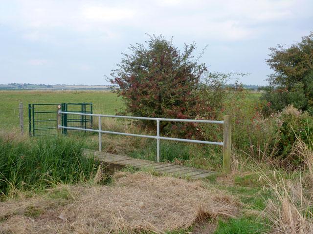 Footbridge and kissing gate near Canewdon
