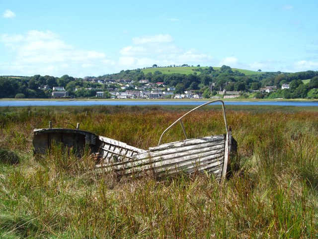 Old boat on the saltmarsh