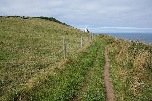 Coastal path below Ling Hill