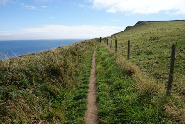 The coastal path below Ling Hill