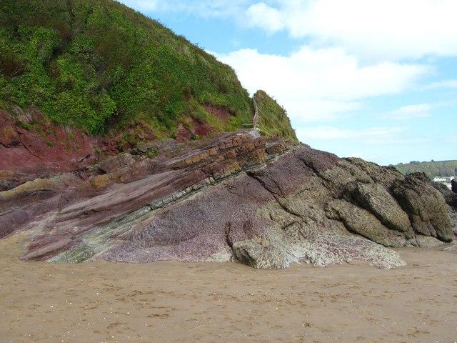 Interesting rocks at Scott's Bay