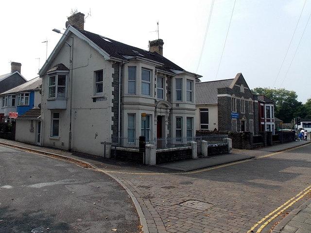 Corner of Minerva Street and Morfa Street, Bridgend