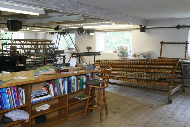 Whitchurch Silk Mill - beaming machine