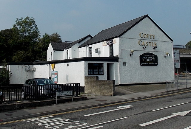 South side of Coity Castle pub, Bridgend