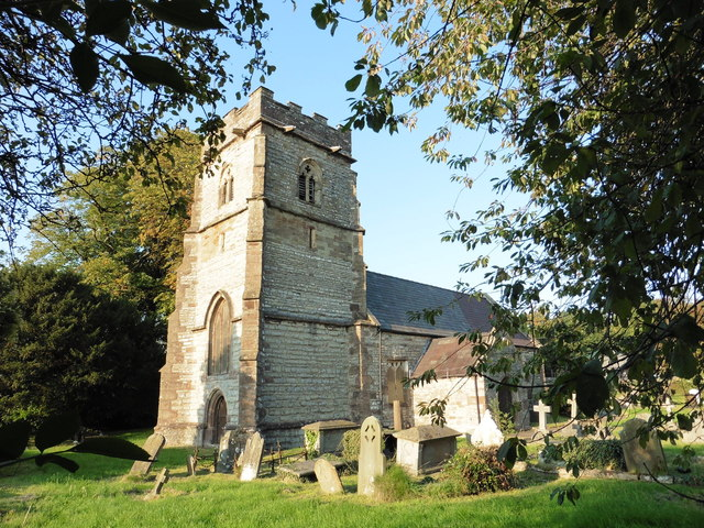 Llanwern church in evening light