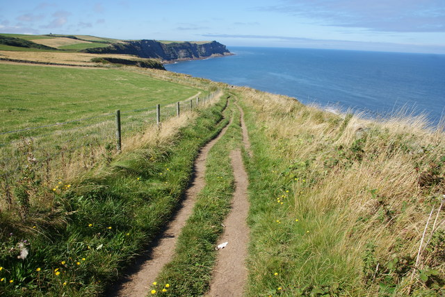 The coastal path above White Horse