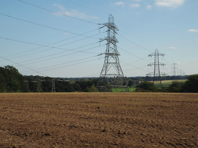 Junction of power lines by Nappins Covert