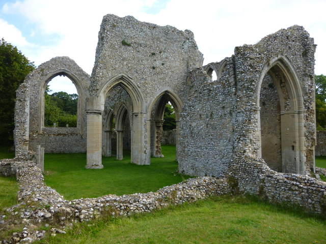 The church ruins at Creake Abbey in Norfolk