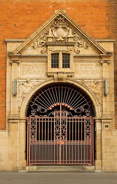 Library entrance, Shoreditch