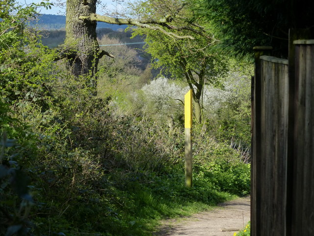Footpath leading to the A50 Markfield Road
