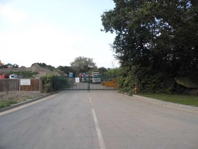 The entrance to John Gunner quarry on Aldershot Road