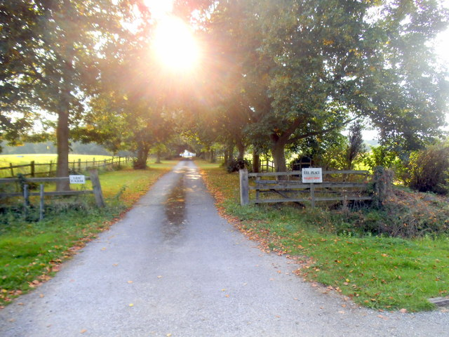 The entrance to Lee Farm on New Lane
