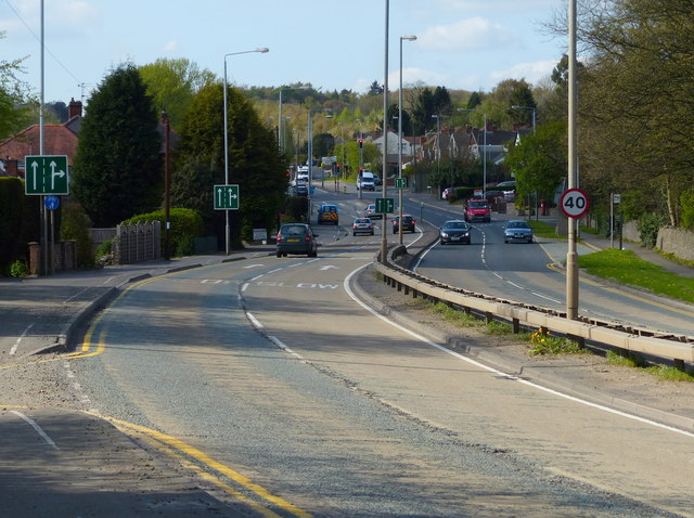 A50 Markfield Road in Groby