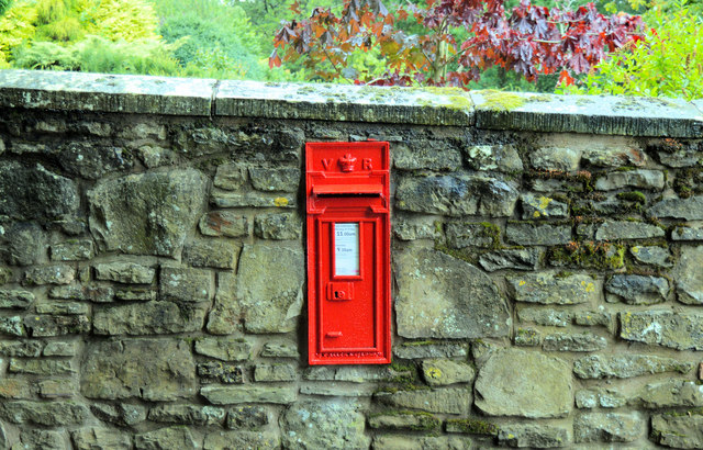 Victorian post box, Eaton under Heywood