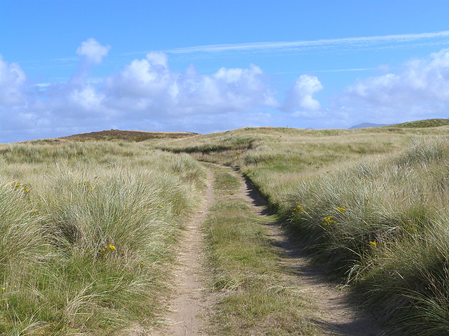 Track over the dunes on the Laggan Estate