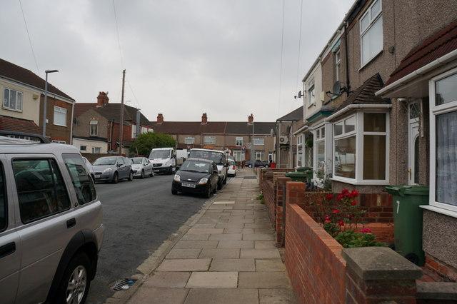 Cooper Road towards Ladysmith Road, Grimsby