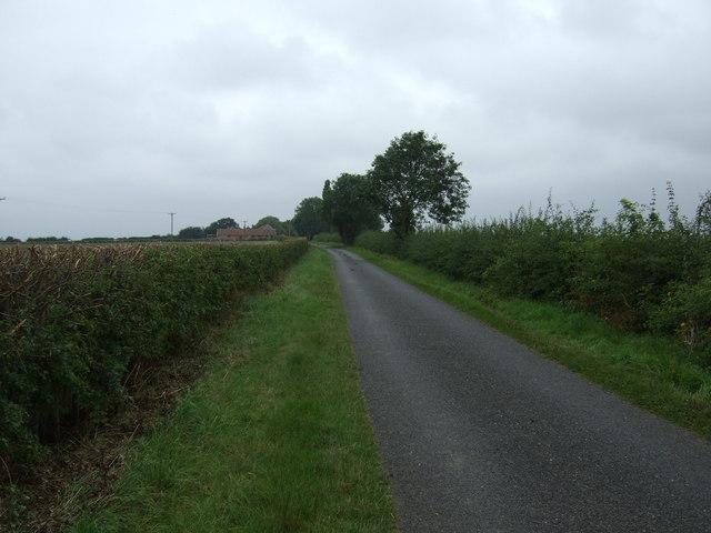 Lane heading west, Swinthorpe