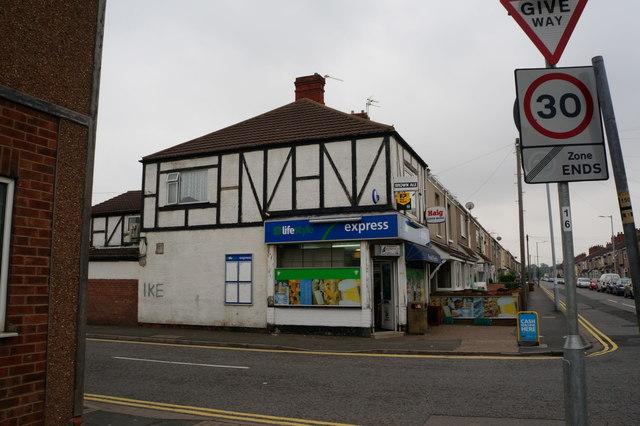 Corner Shop on Convamore Road, Grimsby