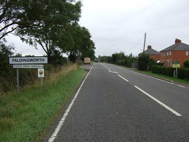 Entering Faldingworth
