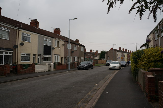 Convamore Road towards Sixhills Street,  Grimsby