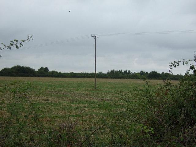 Farmland north of Faldingworth