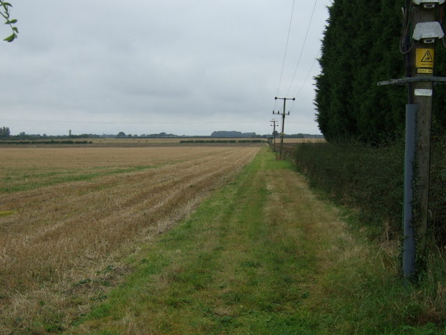 Farm track and stubble field