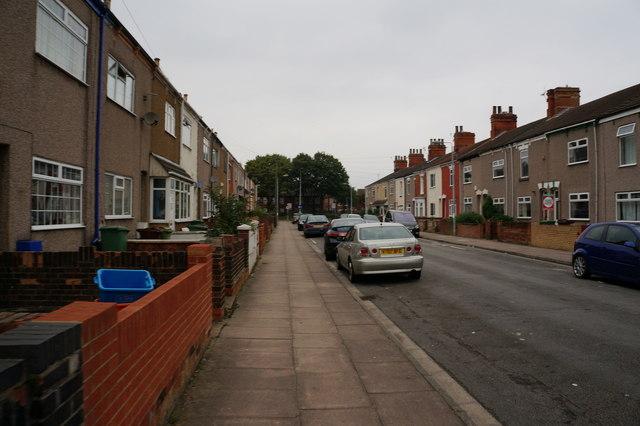 Thomas Street towards Pasture Street, Grimsby