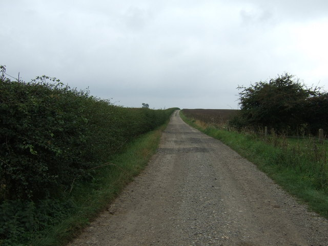 Farm track (footpath) heading south